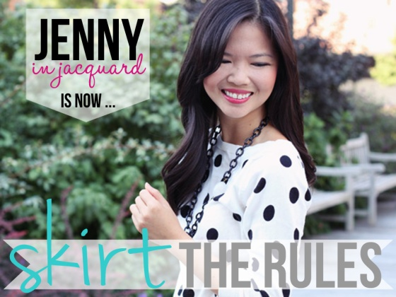 Jenny in Jacquard is now Skirt The Blog